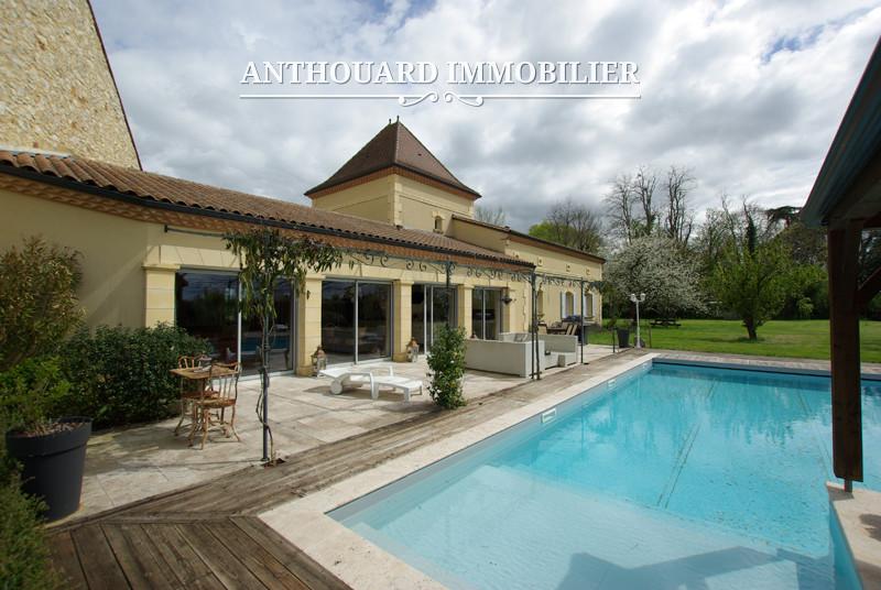 A vendre bergerac surplombant la dordogne maison neuve for Maison avec piscine dordogne
