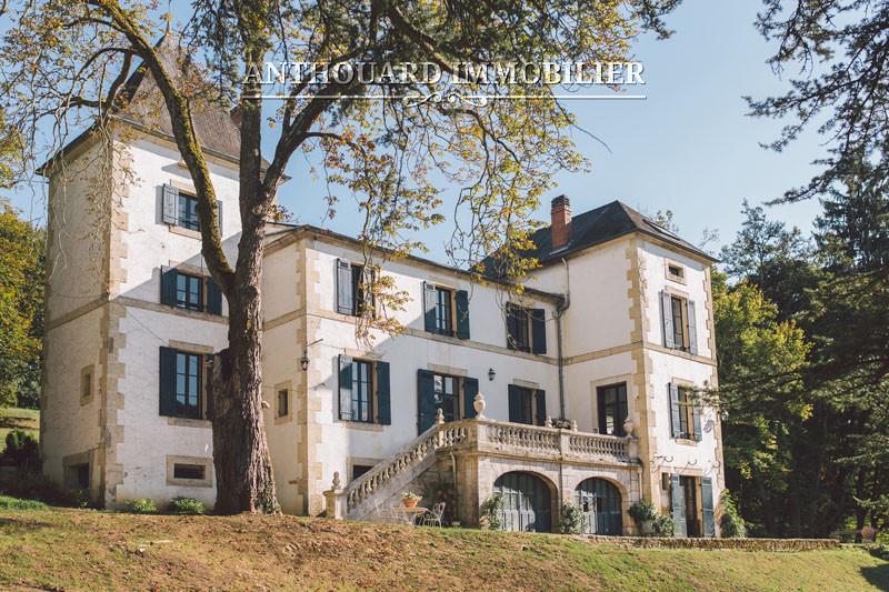 Achat château façade pierre parc
