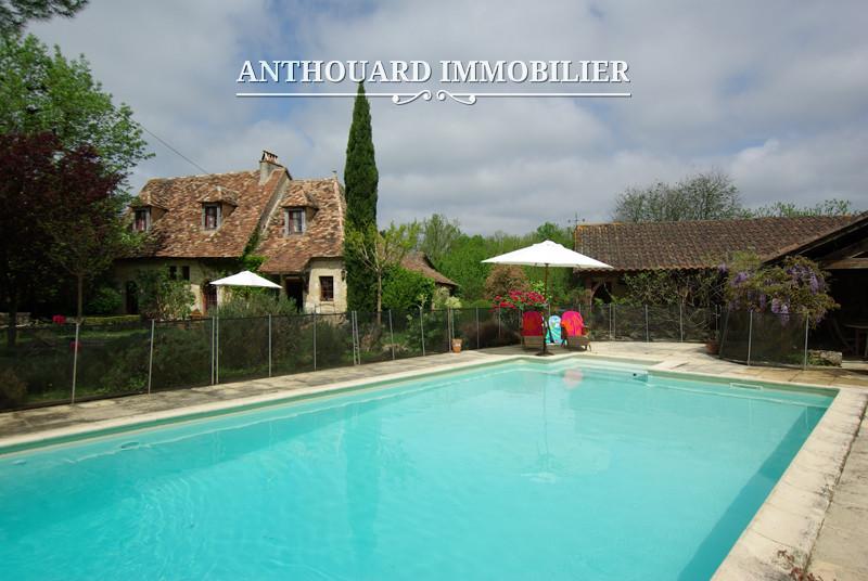 Anthouard Immobilier Ref 1141 Maison en pierrre à vendre en dordogne, proche Bergerac. Charmante demeure (2)