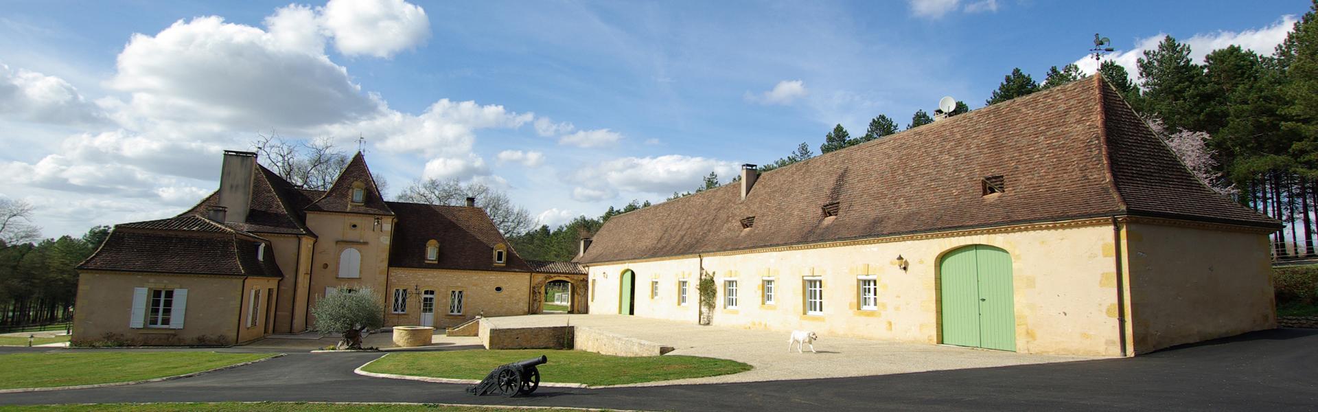 Vente château Périgord parc façade