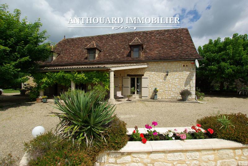 Agence Anthouard Immobilier Propriété maison en pierre avec piscine en Dordogne, Bergerac, Périgord (19)