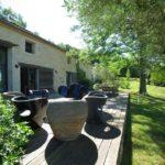 Achat maison charme Dordogne terrasse extérieure