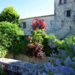 Maison en pierre achat façade jardin