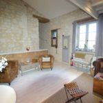 Maison en pierre achat Issigeac salon