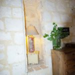 Vente maison charme pierre Issigeac lampe